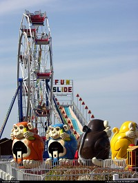 Photo by McMaggie | Virginia Beach  ferris wheel, slide, monkeys, amusement park, Virginia Beach, Virginia