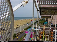 Virginia, View of Virginia Beach boardwalk from a Ferris wheel, 16th Street amusement park, Virginia Beach, Virginia.