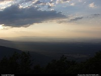 Waynesboro : Sunset, Rock Point Overlook, (overlooking Waynesboro, Virginia), Blue Ridge Parkway, Appalachian Mountains.