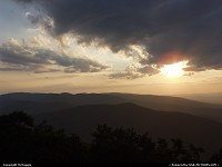Waynesboro : Sunset, Rock Point Overlook, (outside Waynesboro, Virginia), Blue Ridge Parkway, Appalachian Mountains.