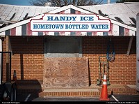 Handy Ice, Centerville Road, Lightfoot, Williamsburg, Virginia. Winter, December, 2010.