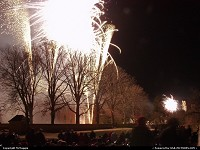 Capitol Building, Colonial Williamsburg, Williamsburg, Virginia, fireworks, Grand Illumination, December, 2010.