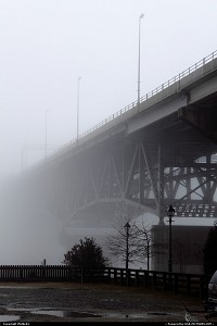 Photo by Philde04 | Yorktown  bridge, fog, yorktown