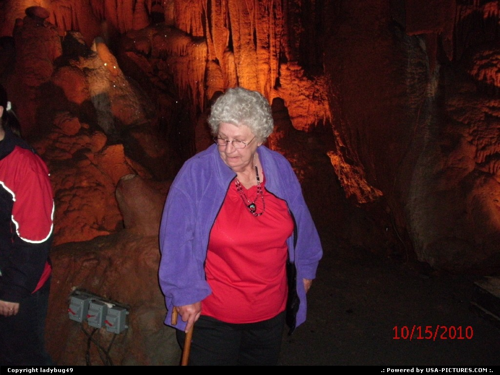 Picture by ladybug49:  Virginia Shenandoah  caverns, thinking