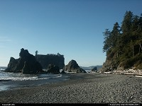 Amazing Ruby Beach. One of the most interesting beach of the coast. Nord East of the state.