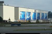 Usine Boeing à Everett. Le plus grand batiment du monde en volume. Assemblage des 747, 767, 777 et 787 Dreamliner. Il est possible de visiter l'usine