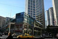 Photo by elki | Seattle  downtown, monorail, train