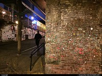 , Seattle, WA, Post Alley Market Theater Gum Wall. Started in 1993 it is now a tourist attractation.
