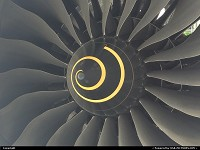 Dreamliner Boeing 787 fan engine