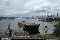 Photo by WestCoastSpirit | Seattle  space needle, sea, ship, cargo, ferry