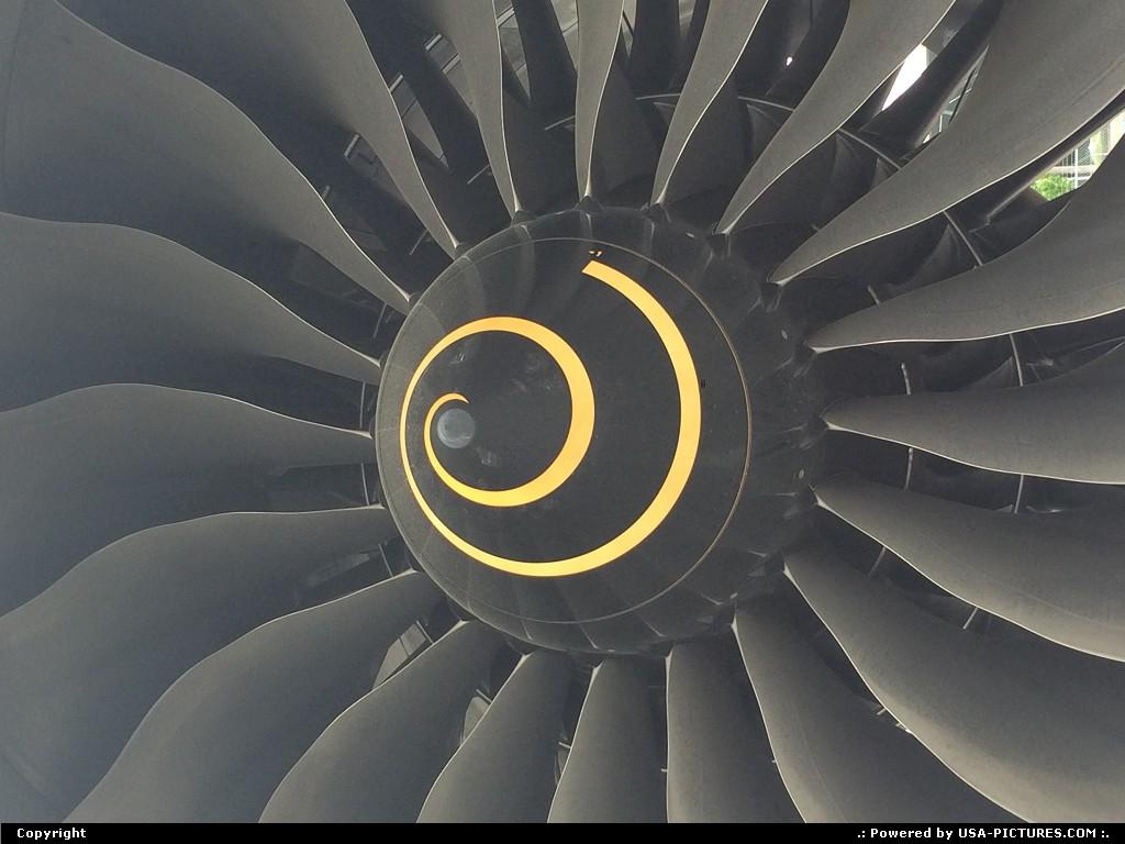 Picture by elki:SeattleWashingtonDreamliner Boeing 787 fan engine