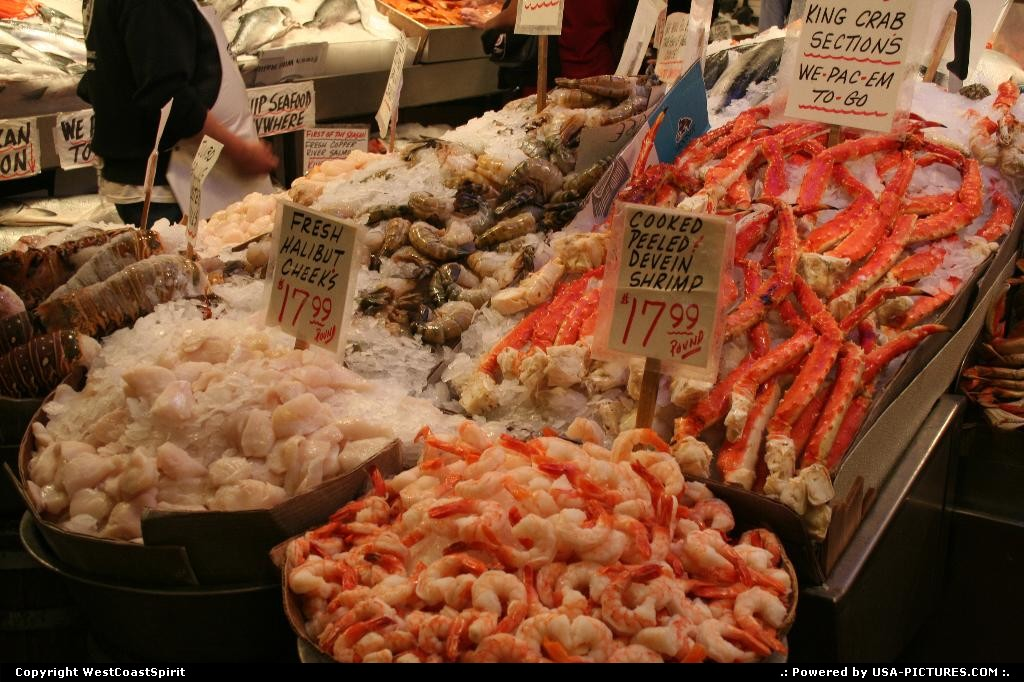 Picture by WestCoastSpirit: Seattle Washington   food, alaska, pike, halibut, shrimp, crab, sea food
