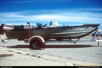 Not in a city : One of countless Boston-Wailer multi-purpose motor boats residing along the shores of Lake Michigan