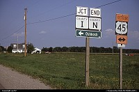 Wisconsin, a cluster of some quintessentially North American road signs