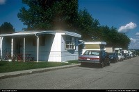 Oshkosh : A street across Mobile Home City