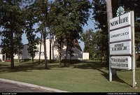 Oshkosh : Also part of the landscape, community churches abond across the nation and this one boldly offered to experience a New Life.