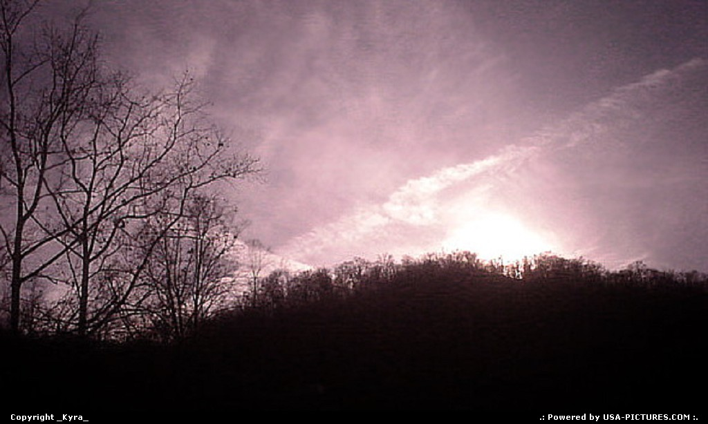 Picture by _Kyra_:OceanaW-virginiasunset, rose tint, mountains, trees, pink, light, sky, clouds