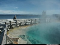 Wyoming, Impressionante piscine naturelle au board du lac