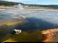 Photo by elki |  Yellowstone geyser, spring
