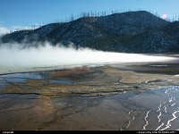 Yellowstone : Geyser, pool and vapor
