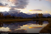 Waiting for sunset at Schwabacher's landing Grand Teton Park.