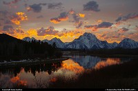 Moran : Marvelous Oxbow Sunset We enjoyed such a marvelous Oxbow sunset last weekend ,I had to go back. The weather forcast called for partly cloudy. Perfect for another spectacular Teton sunset.
