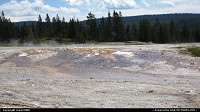 Yellowstone : Vapor rises from Upper Geyser Basin.