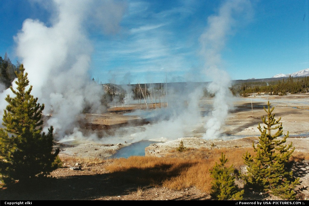 Picture by elki:  Wyoming Yellowstone  yellowstone