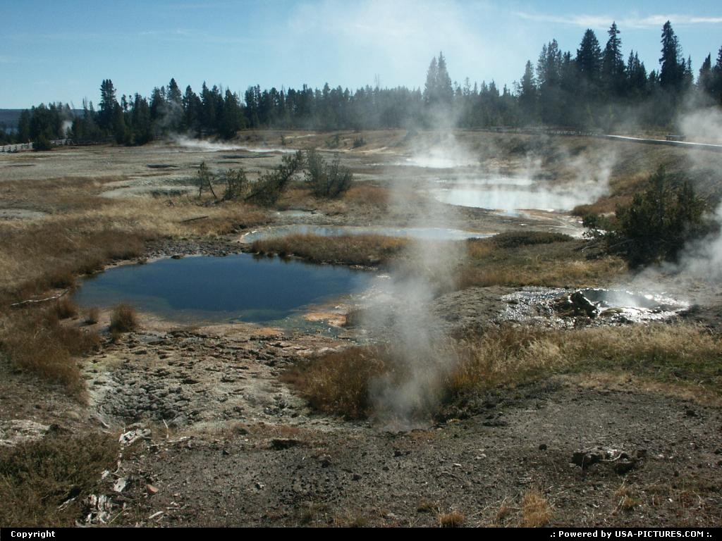 Picture by elki:WyomingYellowstonenatural pool