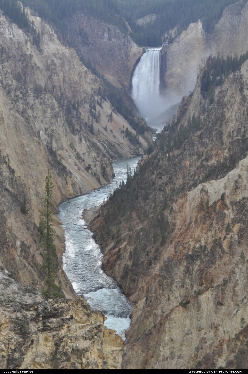 Picture by Brentlee:  Wyoming Yellowstone  waterfall